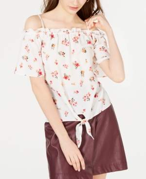 Hippie Rose Printed Off-The-Shoulder Top