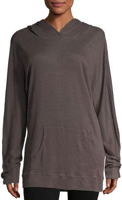 Allen Allen Linen Long-Sleeve Hoodie $69 thestylecure.com