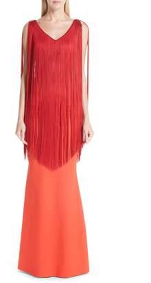 Chiara Boni Tammy Fringe Evening Dress