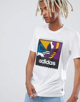 adidas Skateboarding Skateboarding Printed T-Shirt In White DH3893