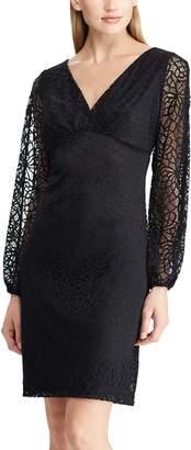 Chaps Women's Lace-Sleeve Sheath Dress