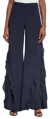 Alexis Julless Ruffle Wide-Leg Pant $550 thestylecure.com