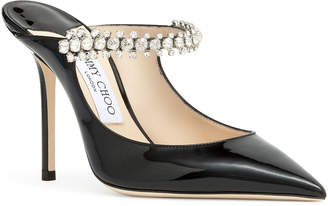 Jimmy Choo Bing 100 patent black mules