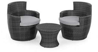 Debenhams MAZE RATTAN Grey Rattan Effect 'La Boston' Garden Side Table And 2 Armchairs