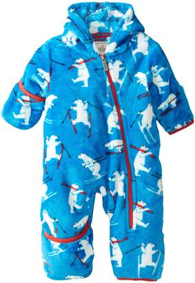 Hatley Baby Boys' Fuzzy Fleece Bundler Skiing , Blue, 12 18 Months