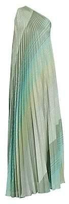 Missoni Women's Plissé Lamé One-Shoulder Gown
