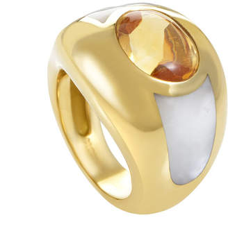 Mother of Pearl heritage Mauboussin Mauboussin 18K Yellow Gold Citrine, Mother-Of-Pearl, & Pearl Ring
