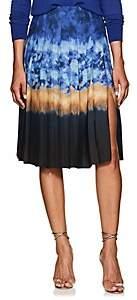 Altuzarra Women's Zurina Pleated Tie-Dyed Skirt - Ceramic Blue