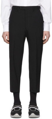 Prada Black Wool Cropped Trousers
