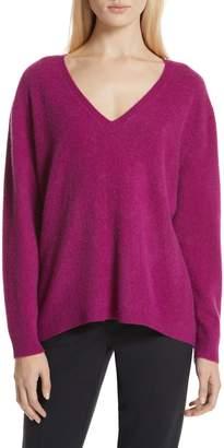 Nordstrom Signature Boiled Cashmere V-Neck Sweater