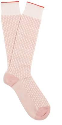 Marni Geometric pattern cotton-blend knee-high socks