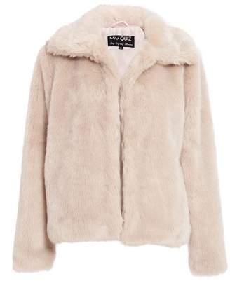 Quiz Stone Short Fur Collar Jacket