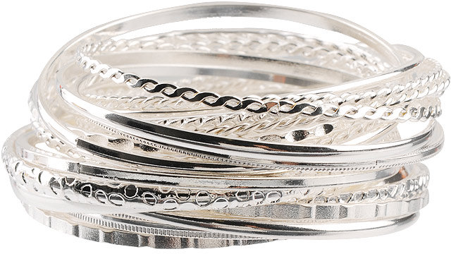 Linked Mixed Bangle Set