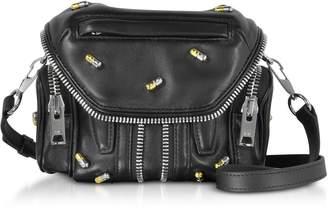 Alexander Wang Black Nappa Leather Micro Marti Shoulder Bag W/pill Studs