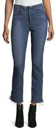 3x1 W4 Shelter Straight-Leg Raw-Edge Jeans