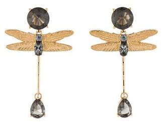 Tory Burch Dragonfly Crystal Drop Earrings