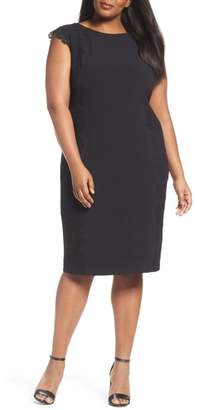 Maggy London Lace Side Sheath Dress