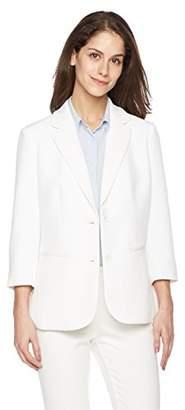 Suite Alice Women's 3/4 Sleeve Two Button Lightweight Blazer