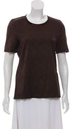 Calvin Klein Collection Satin Short Sleeve Top
