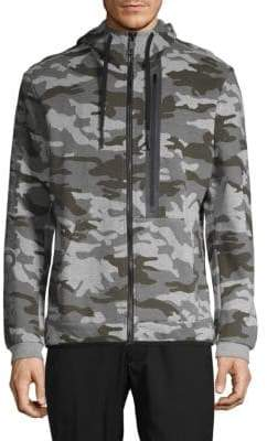 Antony Morato Camouflage Fleece Hooded Jacket