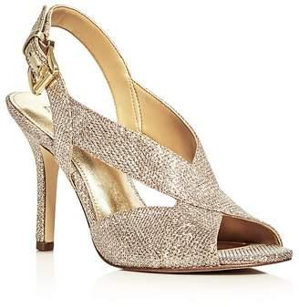 MICHAEL Michael Kors Becky Glitter Crisscross Slingback Sandals