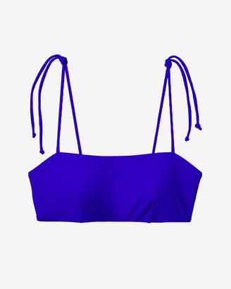 Express Tie Strap Bandeau Bikini Top