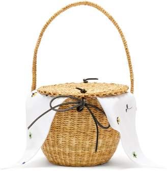 Muun Lou Myoso woven-straw bucket bag