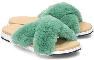 Emu Sea Green Mareeba Sandal - 4 - White/Green/Natural