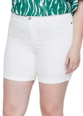 Junarose Plus 318 Queen Molly Normal Waist Slim Denim Shorts