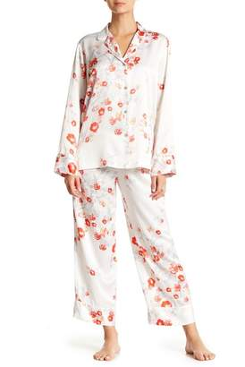 Natori Floral Print Pajama 2-Piece Set