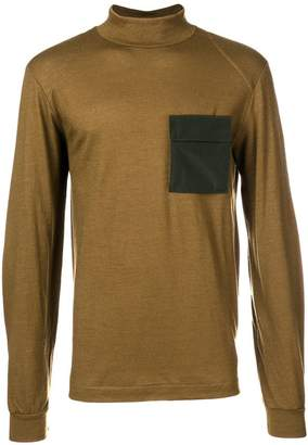 Oamc contrast turtle-neck sweater