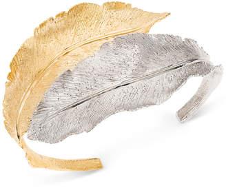 Giani Bernini Two-Tone Leaf Cuff Bracelet in Sterling Silver & 18k Gold-Plate