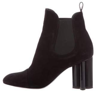 Louis Vuitton Suede Silhouette Ankle Boots Black Suede Silhouette Ankle Boots