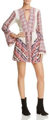 Free People Tegan Border-Print Mini Dress $108 thestylecure.com