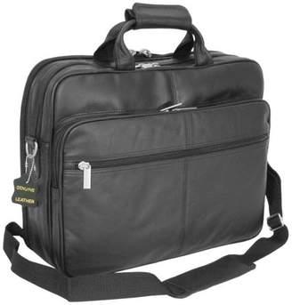 AmeriLeather Amerileather Black Leather Softside Briefcase