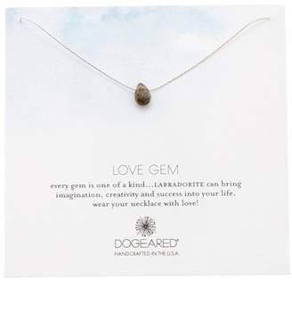 Dogeared Sterling Silver Love Gem Labradorite Pendant Necklace
