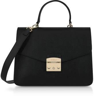 Furla Moonstone Leather Metropolis M Satchel Bag