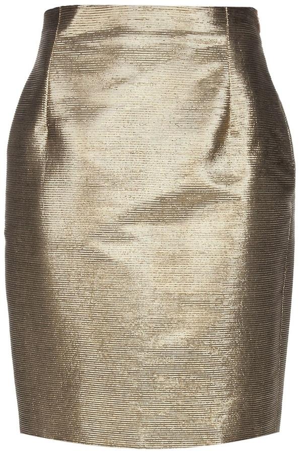 Gianni Versace Vintage Metallic skirt