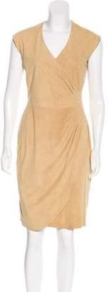 Ralph Lauren Black Label Sleeveless Suede Dress