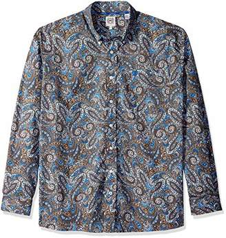 Cinch Men's Classic Fit Long Sleeve Button One Open Pocket Print Shirt