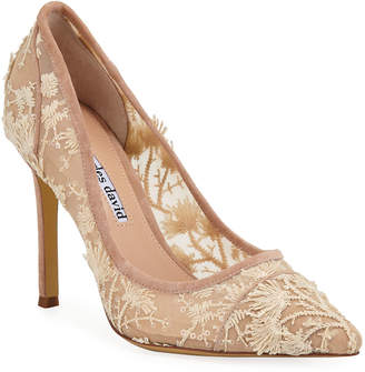 Charles David Chaser Embroidered Pumps
