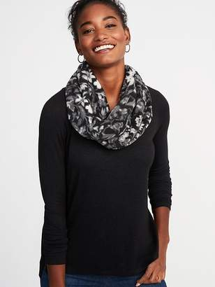 Old Navy Patterned Performance Fleece Infinity Scarf for Women