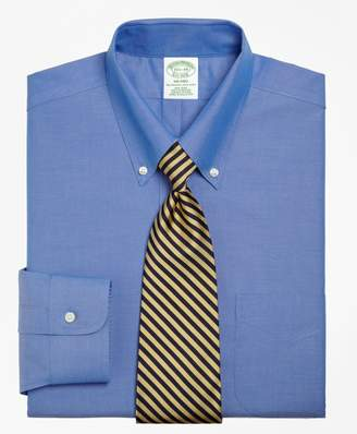 Brooks Brothers Milano Slim-Fit Dress Shirt, Non-Iron Button-Down Collar