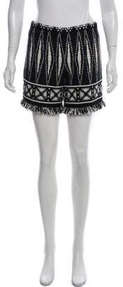 Tory Burch High-Rise Patterned Short