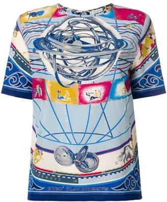 Etro Cosmo-print blouse