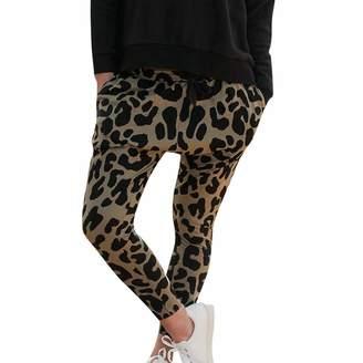 Changeshopping Blouse Women Leopard Print Leggings,Sports Fitness Yoga Pants Changeshopping