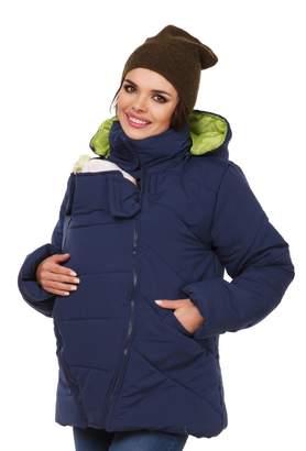 Zeta Ville Fashion Zeta Ville - Womens Maternity Padded Jacket Removable Panel Babywearing - 075c (