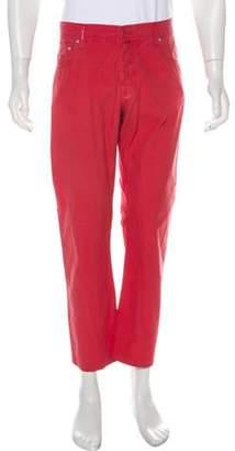 Kiton Woven Chino Pants coral Woven Chino Pants