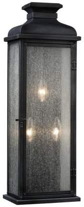 Feiss Pediment 3-Light Outdoor Sconce