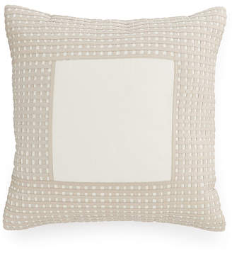 """Hotel Collection CLOSEOUT! Modern Eyelet 16"""" Square Decorative Pillow, Created for Macy's"""